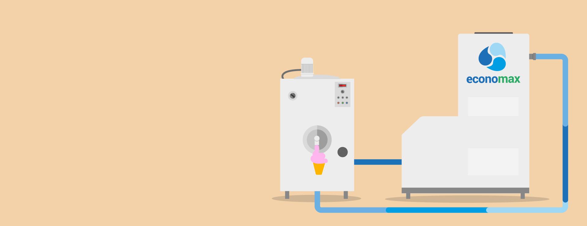 Economax | Economizzatore Refrigeratore Gelaterie Circuito Chiuso Acqua